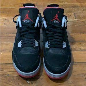 Air Jordan Bred 4 Size 11 (Jumpman)